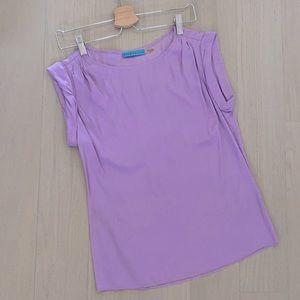 Alice+Olivia Silk blouse in lilac color